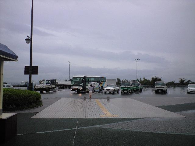 徳島道 上板サービスエリアは雨