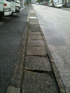 排水路蓋の痛み