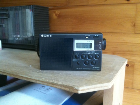 土曜日はラジオを聴きながら