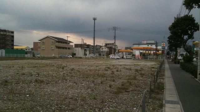 空き地のままのオートバックス跡地