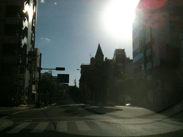 今朝の高知市です。